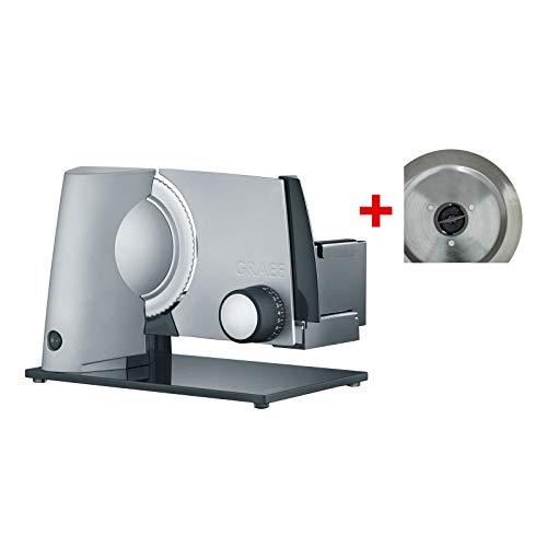 Graef E 32020Elektro 170W Metall grau Aufschnittmaschine Allesschneider, Metall, Grau, 237mm, 343mm, 252mm, 393mm)