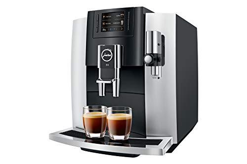 Jura 15247 E8 Platina 2018 Volautomatische koffiemachine, 1,9 liter, zilver - zwart