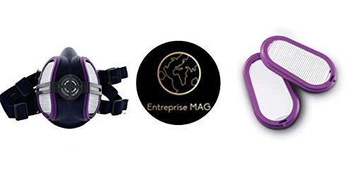 Combo Miller ELECTRIC ML00895 Half Mask Respirator, M/L and Miller Electric Respirator Filters, for LPR100 Elipse, PK2