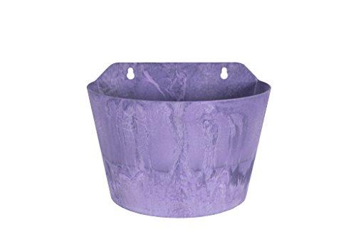 Artstone Vaso da fiori Oggetto da parete Claire, resistente al gelo e leggero, Viola, 24x16x18cm