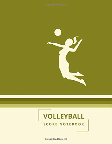 """Volleyball Score Notebook: Training and Record Log Book Scoring Sheet, Score Notebook Journal for Outdoor Games, Gifts for Volleyball Coaches, ... 8.5""""x11"""" with 120 Pages. (Volleyball Logbook)"""