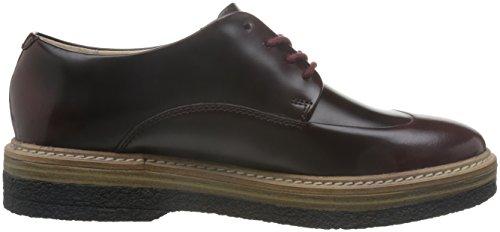 Clarks Zante Zara, Zapatos de Vestir Mujer, Morado (Burgundy Leather), 41 EU