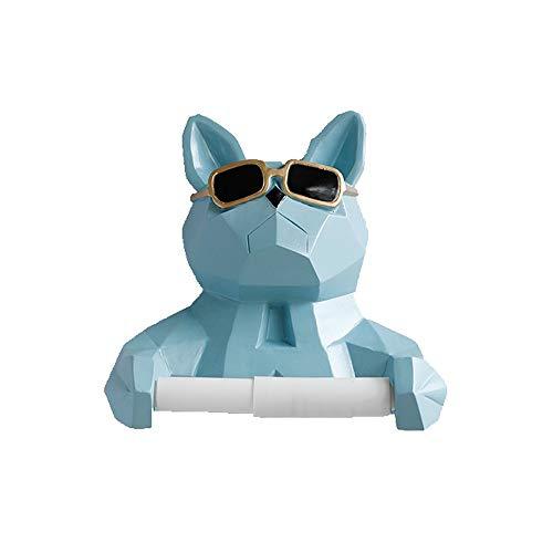 ZZYJYALG Caja Almacenamiento de pañuelos Gafas de Sol Simple Pared Perro Titular Colgantes de Papel higiénico de Papel Rack, Papel higiénico del Estante, Cuarto de baño, de Gran tamaño del Rollo, c