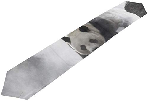 Chinese Black White Panda Bamboo Duffel Bag Garment XL Handbag Huge Tote Bag Table Runner Decor Indoor,13 * 70inch
