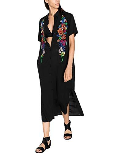 Bsubseach Camisa Falda Largo Playa Mujer Escote Blusa