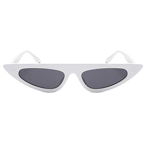 Battnot Sonnenbrille für Damen Herren, Unisex Vintage Mode Katzenaugen Frame Rahmen UV Gläser Sonnenbrillen Männer Frauen Retro Billig Cat Eye Sunglasses Coole Women Fashion Travel Eyewear