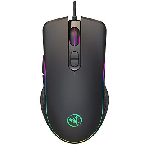 JOYKK Gaming Mouse 7 toetsen optische USB-kabel desktop muizen RGB backlit muizen voor stuk computer laptop gamer - zwart