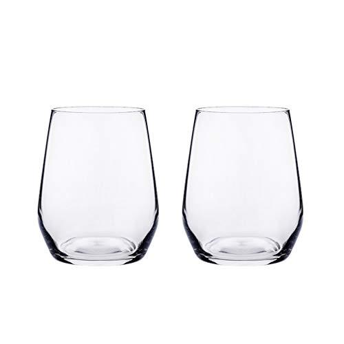 Conjunto De Copa De Vino Clásico Transparente De Cristal Transparente De 2, Vidrio para El Hogar, Fiesta De Bodas para Acampar Taza, Lavaplatos De Seguridad