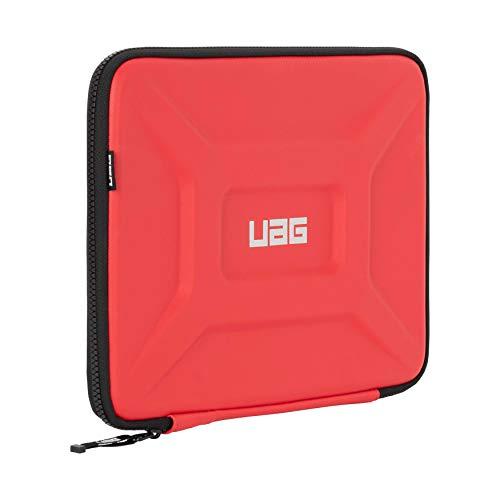 Urban Armor Gear Estuche Universal de protección portátiles y tabletas para Apple iPad Pro 12.9 / MacBook Pro, Microsoft Surface Pro/Book/Laptop (hasta 13'', Manga con Bolsillo de Malla) Rojo