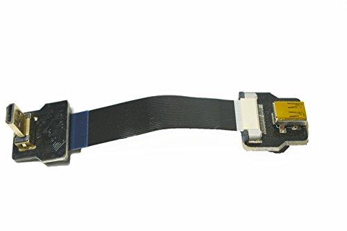 Korte HDMI slank dun licht HDMI FPC HDMI FPV HDMI kabel Micro HDMI male 90 graden hoek naar Micro HDMI female voor Gopro Sony A7RII A7SII A9 A6300 A6500 (Niet forsony A6000) Zwart 5CM Zwart