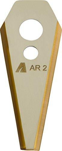 ARNOLD 1111-B3-1009 TiN-Cut AR2 Ersatzklingen passend für Bosch Indego Mähroboter, 9 Stück