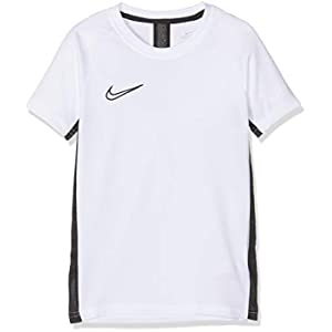 Nike Academy Top Short-Sleeve, T-Shirt Bambino, White/Black/Black, S