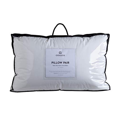 Feels Like Down - Microfibre Pillow With Cotton Casing - Soft - Standard Pillow Pair