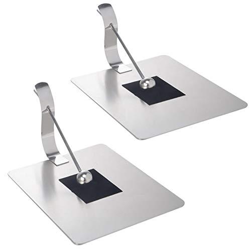 GSDJU 2pc Acier Inoxydable Boule de préhension Tissu Porte-Serviettes Support Papier Serviette Distributeur pour Table à Manger Cuisine comptoir décoration