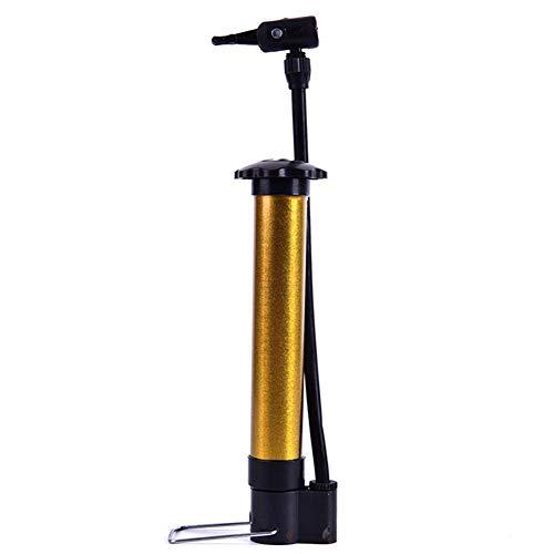 ZZZL Portable Bicycle Pump, High Pressure Cycling Hand Air Pump Ball Tire Inflator MTB Mountain Mini Bike Pump(Gold)