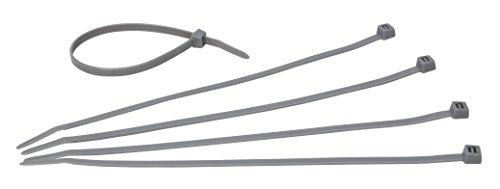 Kopp 324620092 Sortiment Kabelbinder, silber, 200 x 6 mm, 50 Stück