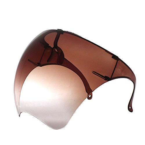 Futuristische Sonnenbrille, groß, verspiegelt, Unisex, flaches Visier für das gesamte Gesicht (1 Paar) (brauner Farbverlauf)