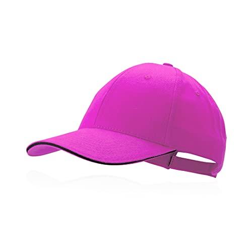Makito Gorra Rosa-Fucsia béisbol Padel Golf Gorra 6 Paneles 100% algodón Peinado Cierre Ajustable Gorra Unisex