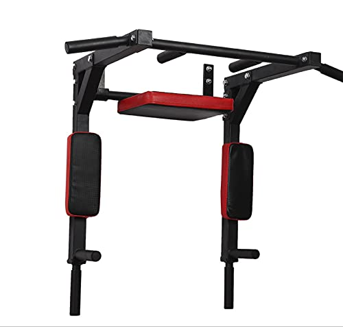 Sz5cgjmy - Barra de mentón multifuncional para montaje en pared, barra de mentón, soporte de inmersión, torre de energía, máquina de ejercicios para gimnasio en casa, entrenamiento de fuerza