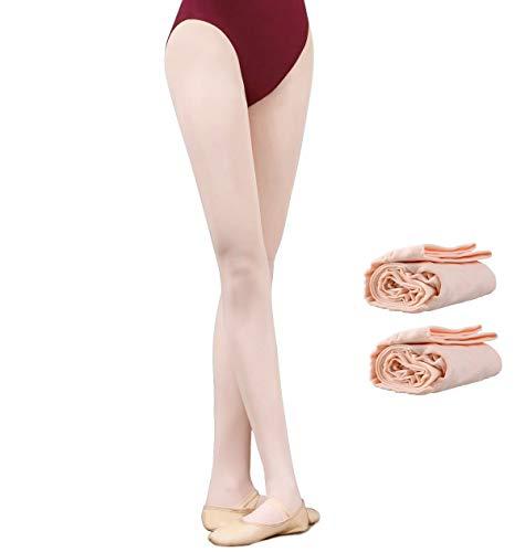 Calze per Ballerine di Danza Classica Senza Cucitura Danza Collant Balletto Bimba Donna (rosa(2 paia), S(altezza:110cm-125cm))