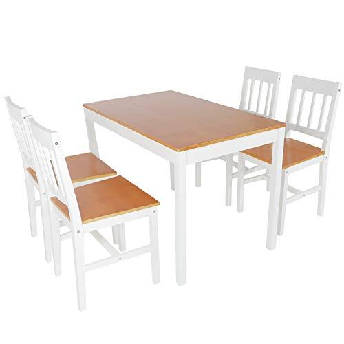 Cerlingwee Mesa de Comedor, Silla de Mesa de Cocina, Cocina casera Resistente para el apartamento de la Sala de Estar
