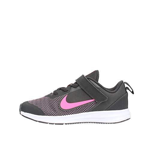 Nike Jungen Downshifter 9 (PSV) Leichtathletikschuhe, Schwarz (Black/Hyper Pink/White 000), 28 EU