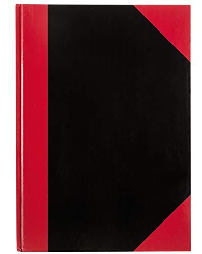 Idena 10146 - Kladde DIN A4, FSC-Mix, 96 Blatt, 70 g/m², kariert, Cover rot-schwarz, 1 Stück