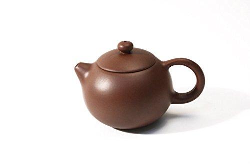 Tea Soul Zisha 110 ml, typische chinesische Teekanne aus einem bestimmten roten Ton aus Yixing, Keramik, braun, 10 x 7 x 5.5 cm