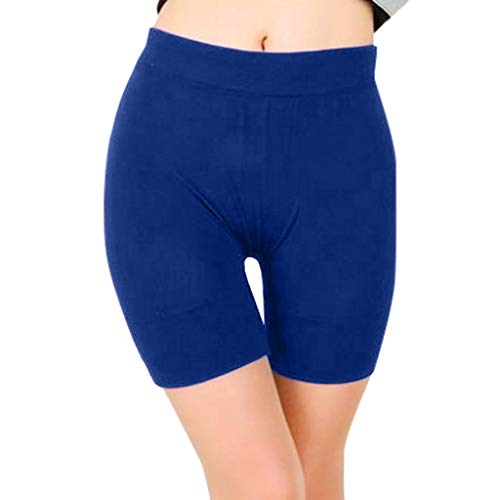 Yoga Shorts Sweatpants Damen Laufshorts Xjp Frauen Einfarbig High Waist Elastisch Workout Leggings Yoga Shorts Wickel Regular Fit Sport Fitness Sporthose Schlafhose Hotpants(XL, Blau)