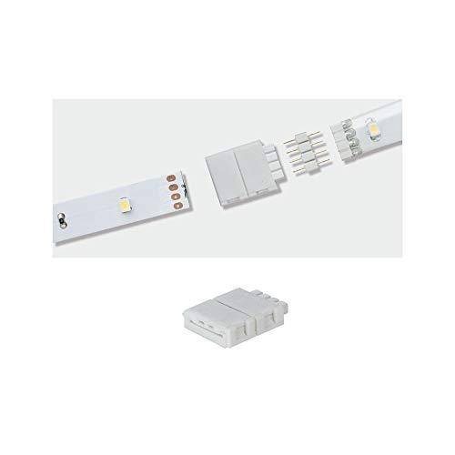 Paulmann 70490 Clip-to-YourLED Connector LED, Blanco, Paquete de 2, Accesorio de Strip para Volver a empalmar Strips Eco Cortadas