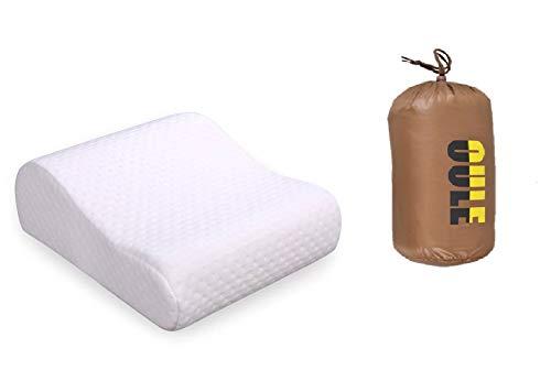 Oule GmbH - Almohada cervical ortopédica de viaje suave y cómoda forma de memoria, termoactiva, viscoelástica, con bolsa de transporte