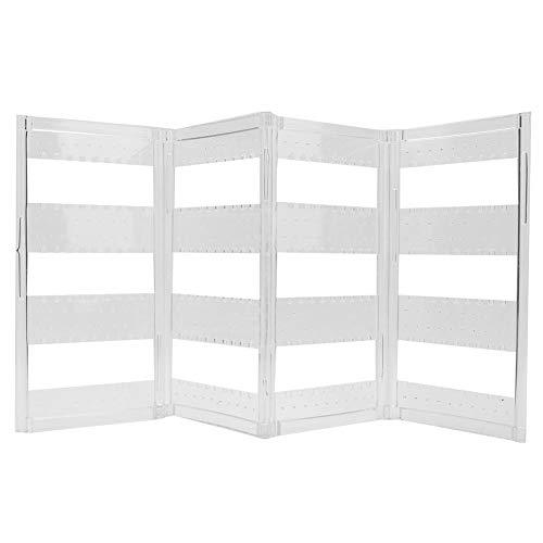 Salmue Dos Tipos de aretes para joyero: Plegables, portaequipajes para Puertas, Caja de almacenaje para Joyas, Pendientes para Collar (Cuatro Paneles)
