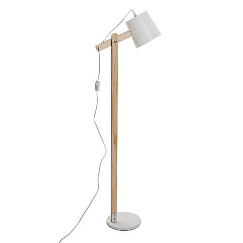 Versa 21460004 wandlamp, hout en metaal, wit, 140 x 22 x 36 cm