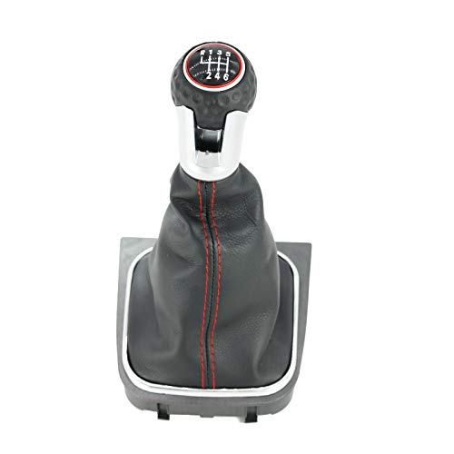 kangbeier Perilla de Palanca de Cambios de 6 velocidades para VW Golf 5 MK5 R32 GTI 2004 2005 2006 2007…