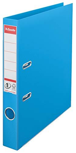 Esselte No. 1 - Archivador de plástico (A4, 50 mm, 10 unidades), color azul claro