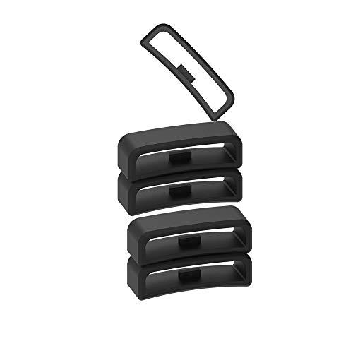 Chofit Fit Compatibile con Garmin Vivoactive HR Cinturino di Fissaggio Hoop Loop Gomma Fermo Fibbia Holder Compatibile con Garmin Vivoactive HR Regular Smartwatch, Nero