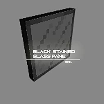 Black Stained Glass Pane