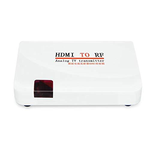 Lazmin Convertidor coaxial de HDMI a RF, Adaptador de Video 1080P Entrada de Soporte Resolución HDMI: 480I/480P/576I/576P/720P/720I/1080I/1080P(Enchufe de la UE)