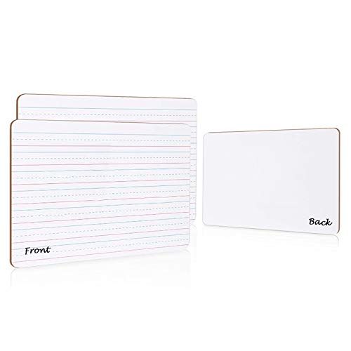 Small White Boards 2 Packs for Students,9  x 12  Double-Sided with Line Portable Whiteboard for Kids Drawing, Classroom,Home School