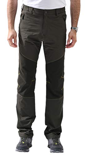 svacuam Men's Outdoor Quick Dry Cargo Pants with Multi Pockets (Army Green,34x34)
