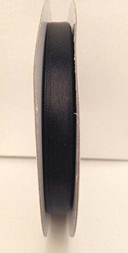 Ruban satin double face Noir 10 mm Largeur (3/20,3 cm) – Bobine 50 m (Full) Crafts Papier cadeau 25
