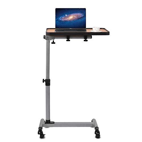 Giantex Laptoptisch mit Rollen, Beistelltisch Notebooktisch höhenverstellbar & neigabar, Rolltisch Pflegetisch Betttisch Projektionstisch für Bett Sofa Büro, 52 x 33 x (61,5-85) cm