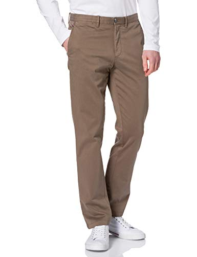Tommy Hilfiger Denton TH Flex Satin Chino GMD Pantalons, Nomad, 34 W/32 L Homme