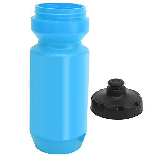 Fournyaa Bicycle Water Bottle, Smart Nozzle Design Broken‑resistant Bike Kettle Easy To Open and Close for Outdoor for Travel(blue)