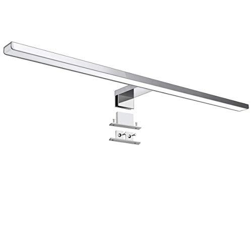 KINGSO LED Spiegellampe 60cm IP44 10W Neutralweiß Spiegelleuchte Badezimmer 800lm 230V 4000K led Spiegelleuchte für Möbel Spiegel Bad