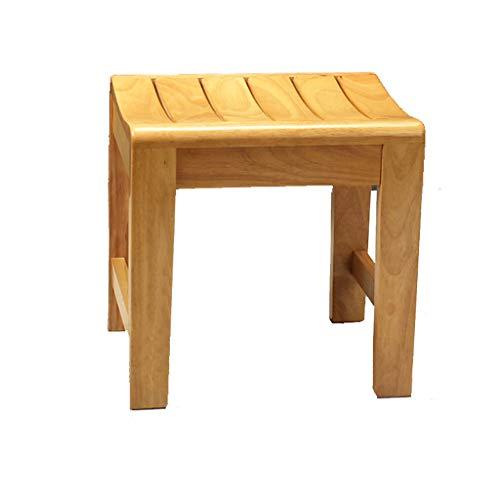 Ailj Stuhl Aus Massivem Holz, Badezimmerbank, Schemel, Niedriger Stuhl, Fußbank