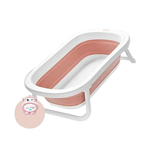 Yongjun Opvouwbare badkuip voor kinderen, draagbaar, demonteerbaar, voor baby's, badkuip, grote ruimte, 3 kleuren Roze