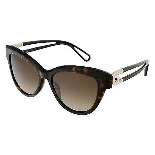 FURLA Gafas de sol SFU466 0722 54 – 16 – 140 para mujer, color marrón oscuro brillante
