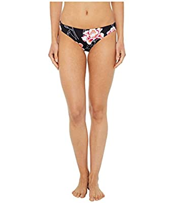 Roxy Junior's Printed Beach Classics Regular Bikini Bottom, Anthracite Zilla Sample, M
