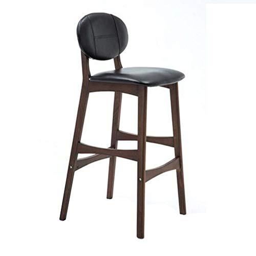NAN liang Tabouret de bar en bois massif, chaise de bar créative, chaise de bar à dossier Dai, tabourets hauts, tabouret de bar de cuisine à la maison, 8 couleurs disponibles (Couleur : H)